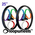 "25"" HARLEQUIN Loopwheels with Black  logo - PAIR LOOPHAR25K"