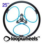 "25"" BLUE Loopwheels with Black logo - PAIR LOOPB25K"