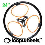 "24"" ORANGE Loopwheels with Black logo - PAIR LOOPE24K"