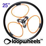 "25"" ORANGE Loopwheels with Black logo - PAIR LOOPE25K"