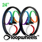 "24"" HARLEQUIN Loopwheels with Black  logo - PAIR LOOPHAR24K"