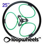"25"" GREEN Loopwheels with Black logo - PAIR LOOPN25K"