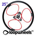 "25"" RED Loopwheels with Black logo - PAIR LOOPR25K"