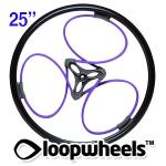 "25"" PURPLE Loopwheels with Black logo - PAIR LOOPU25K"